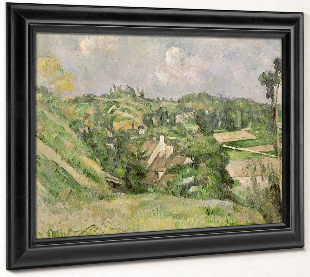 Auvers Sur Oise, Seen From The Val Harme By Paul Cezanne