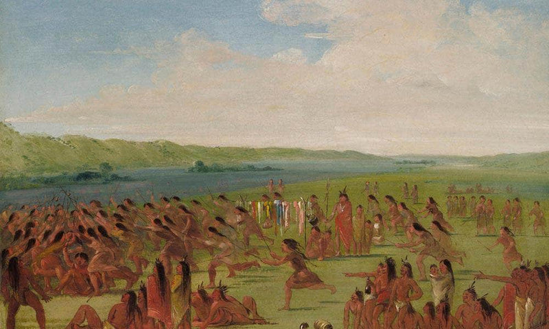 Ball Play Of The Women, Prairie Du Chien1 By George Catlin