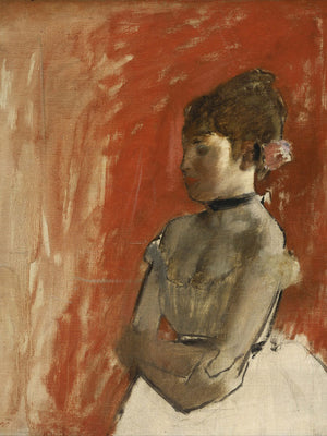 Ballet Dancer With Arms Crossed By Edgar Degas