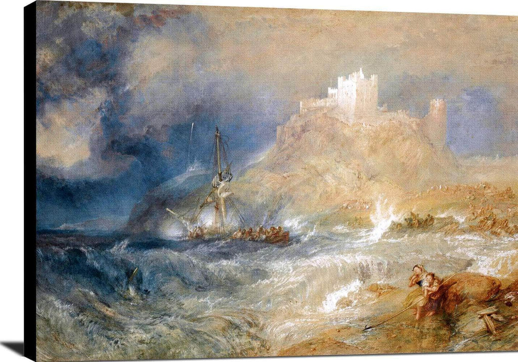 Bamborough Castle Painting Joseph Mallord William Turner Canvas Art