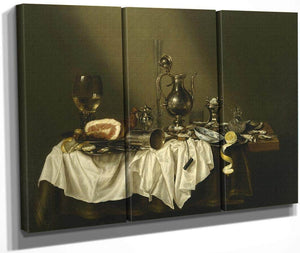 Banquet Piece With Ham By Willem Claesz Heda