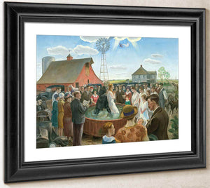 Baptism In Kansas By John Steuart Curry