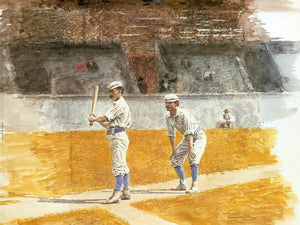 Baseball Players Practicing 1875 By Thomas Eakins