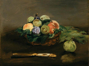 Basket Of Fruit By Manet Edouard