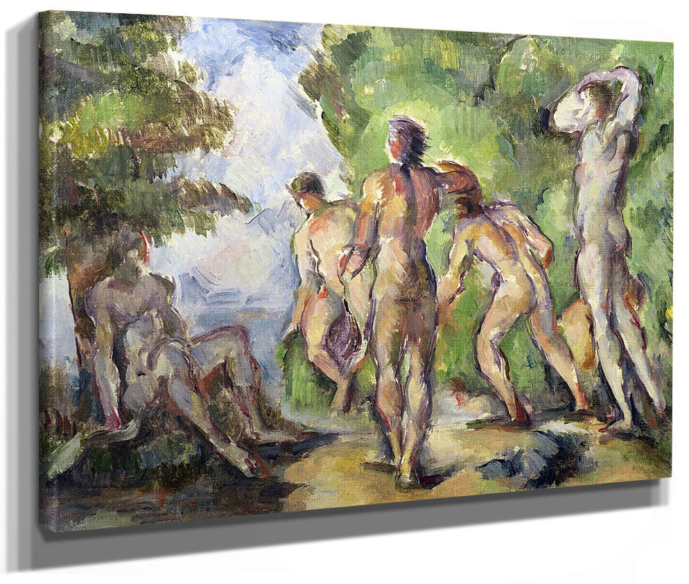 Bathers 2 By Paul Cezanne