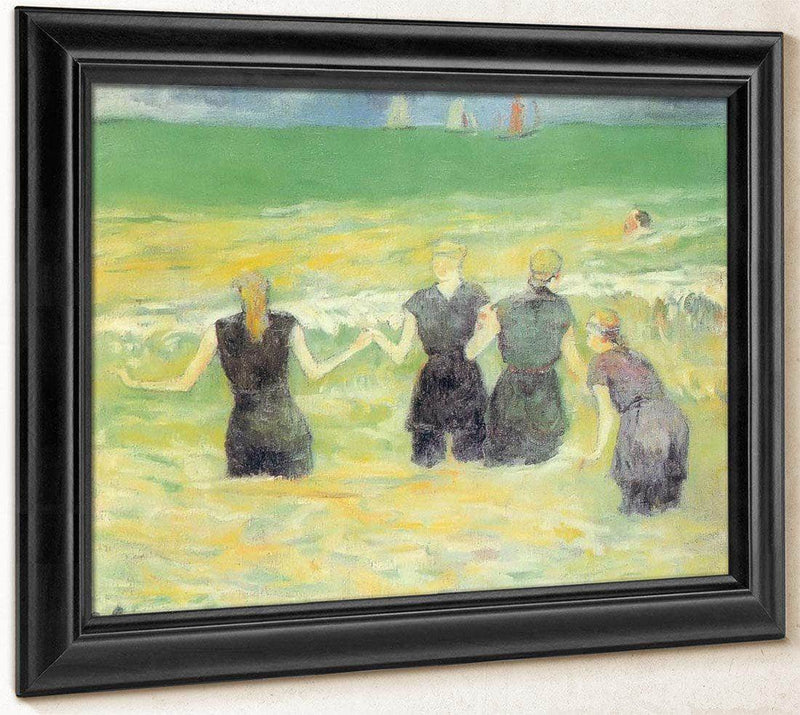 Bathers In Dieppe By Paul Gauguin