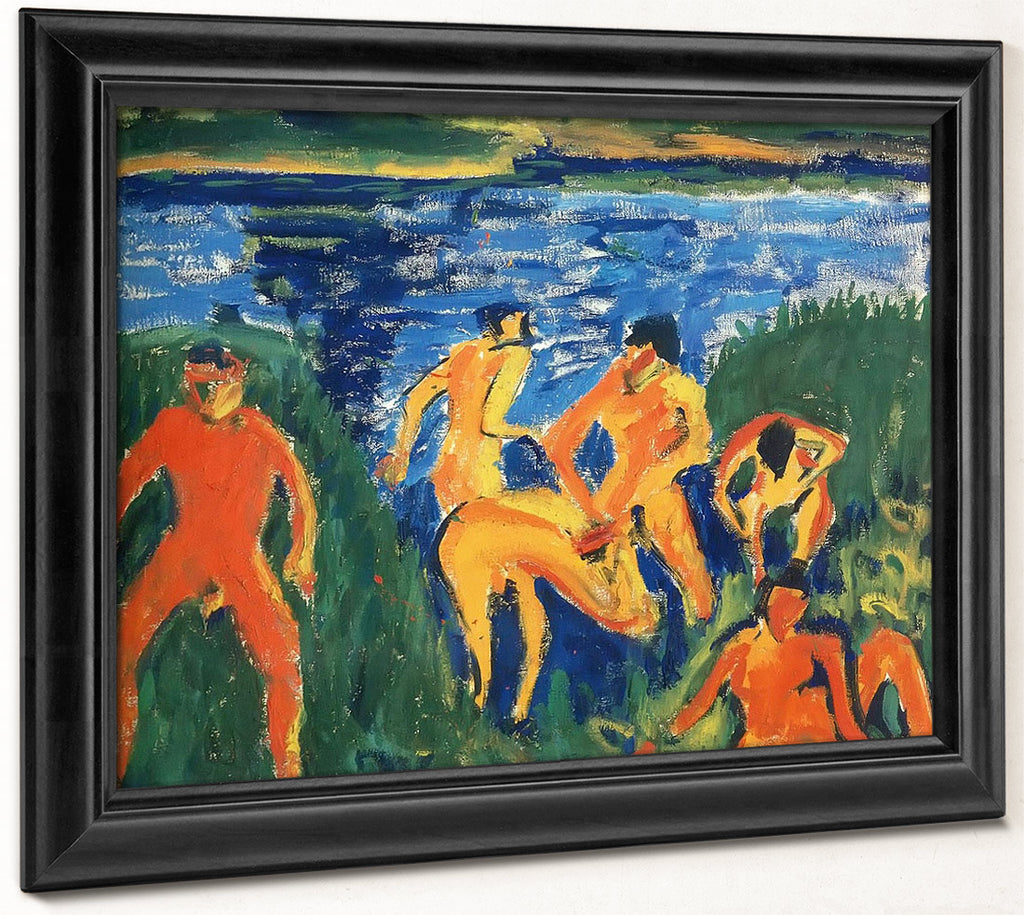 Bathers In The Reeds M9 Erich Heckel