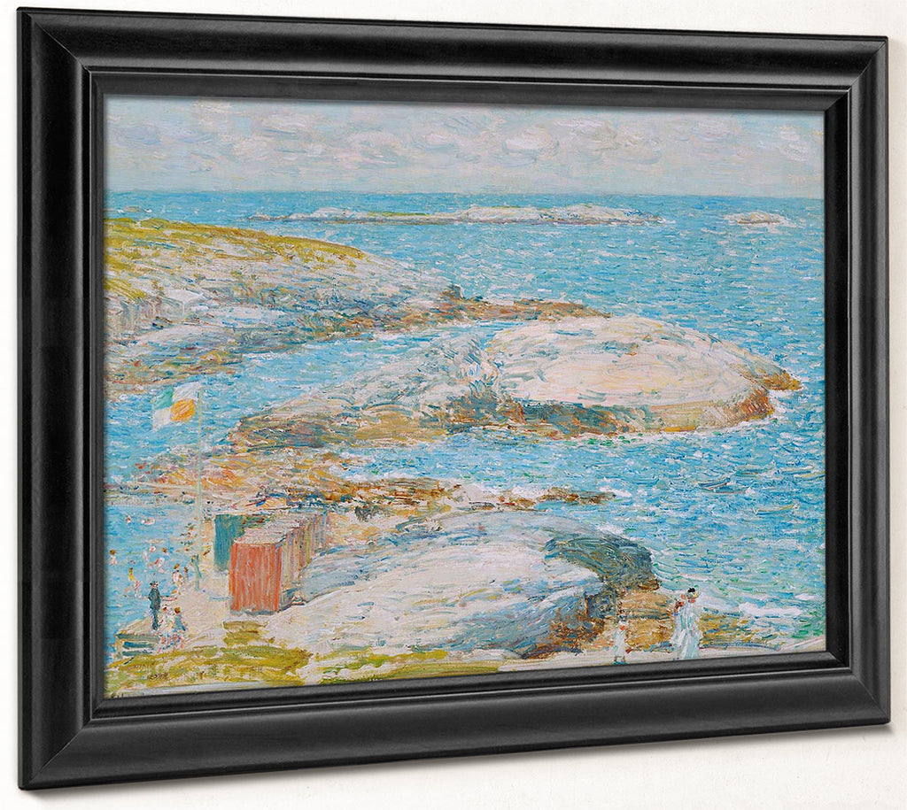 Bathing Pool Appledore By Childe Hassam