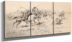Battle Between The Crows And Blackfeet By Charles Marion Russell