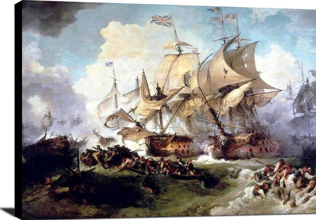 Battle Of The First Of June Painting Philip James Loutherbourg Canvas Art