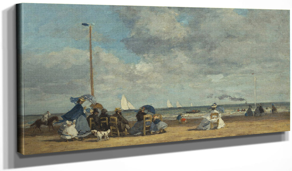 Beach At Trouville 1 By Eugene Boudin