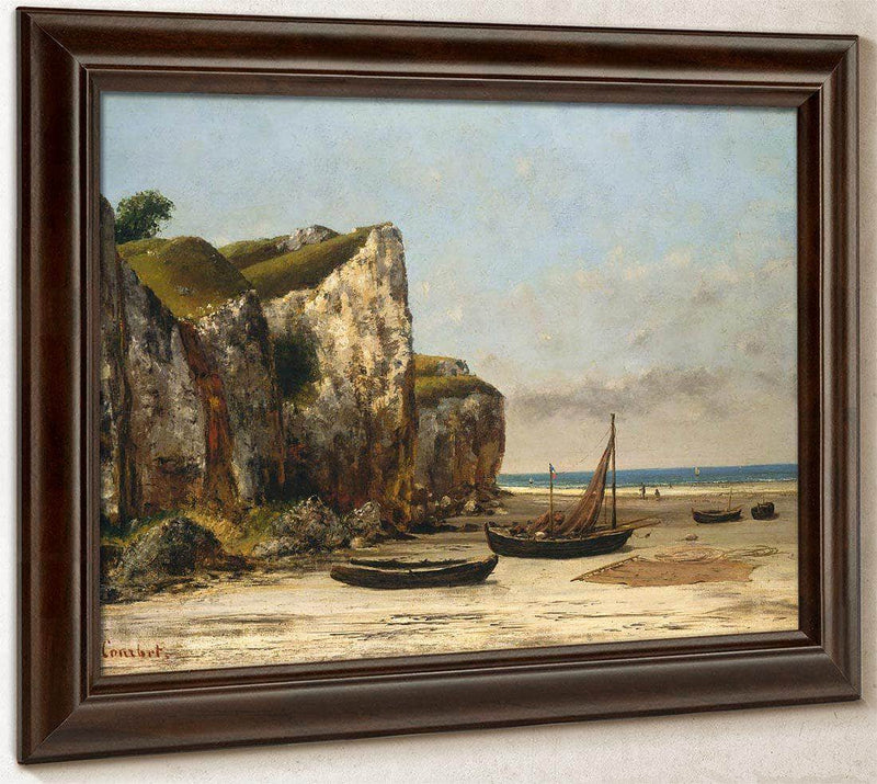 Beach In Normandy By Gusave Courbet