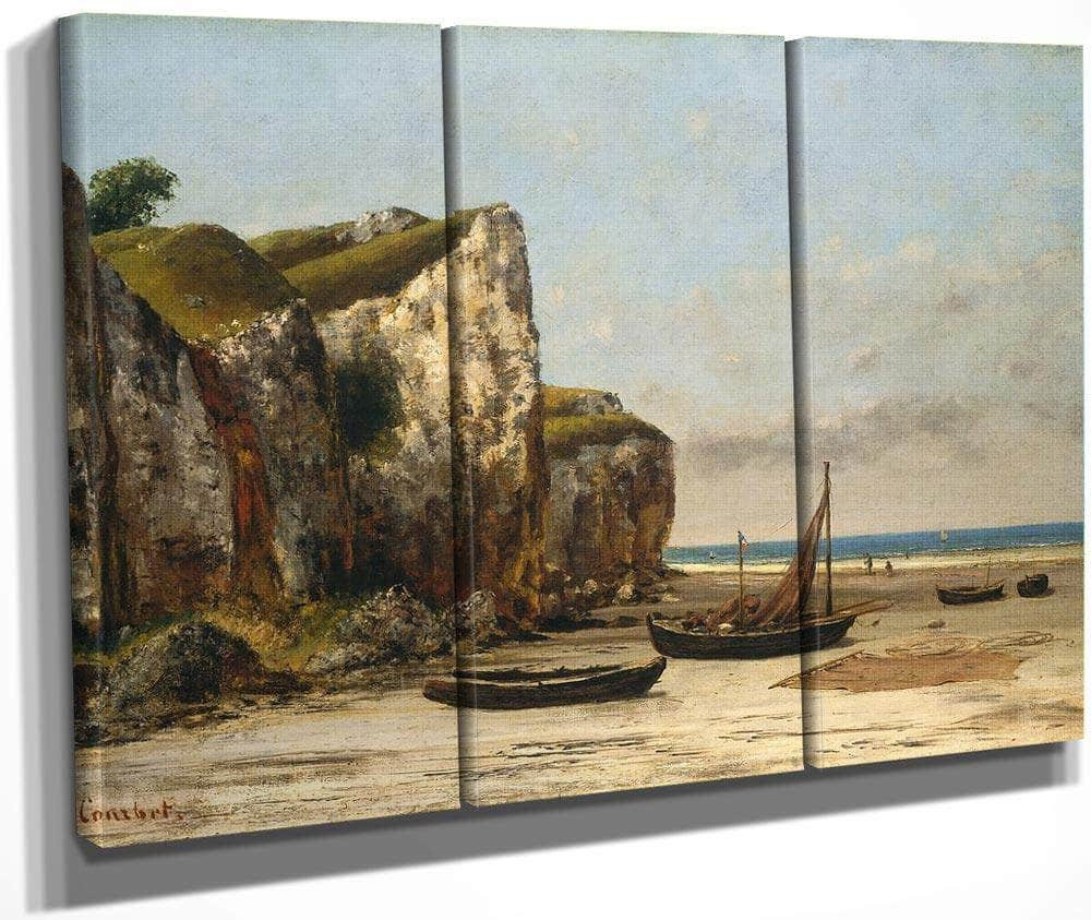Beach In Normandy By Gustave Courbet