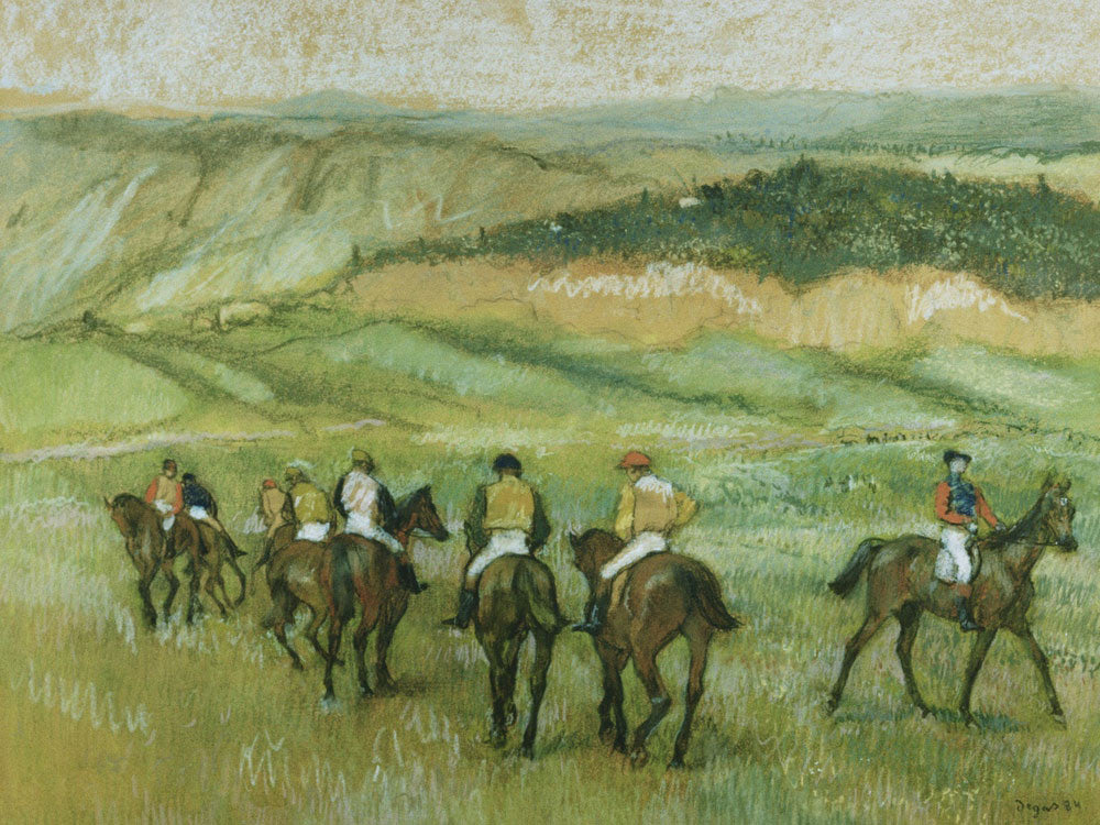 Before The Race 1 By Edgar Degas