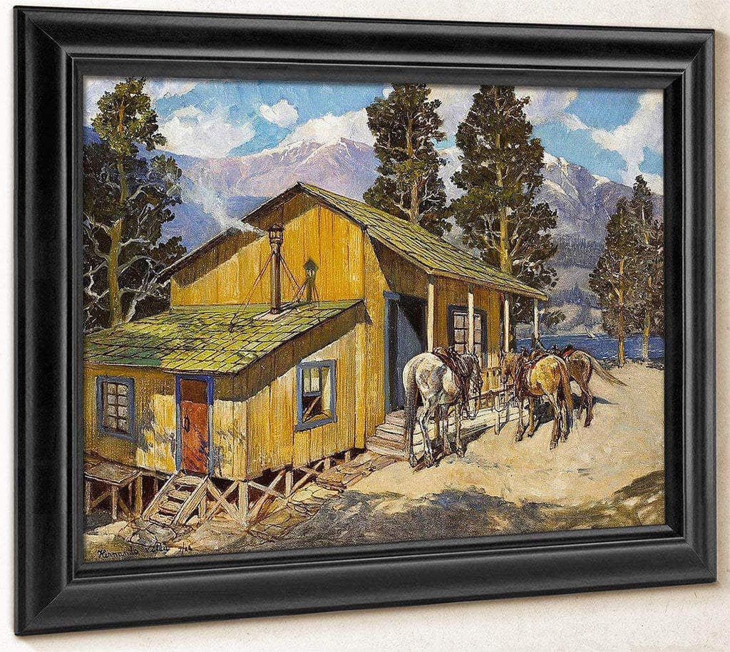 Believed To Be Edgar Payne's Cabin, 1944 By  Hernando Gonzallo Villa