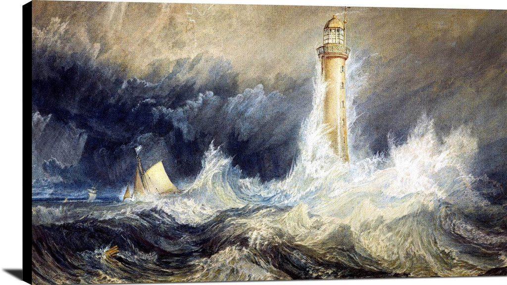 Bell Rock Lighthouse Painting Joseph Mallord William Turner. Canvas Art
