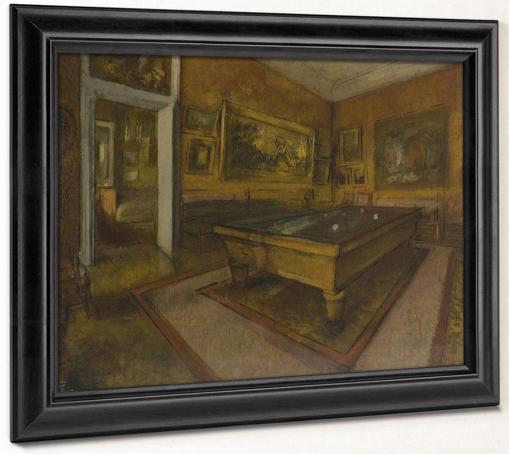 Billiard Room At Me Nil Hubert By Edgar Degas