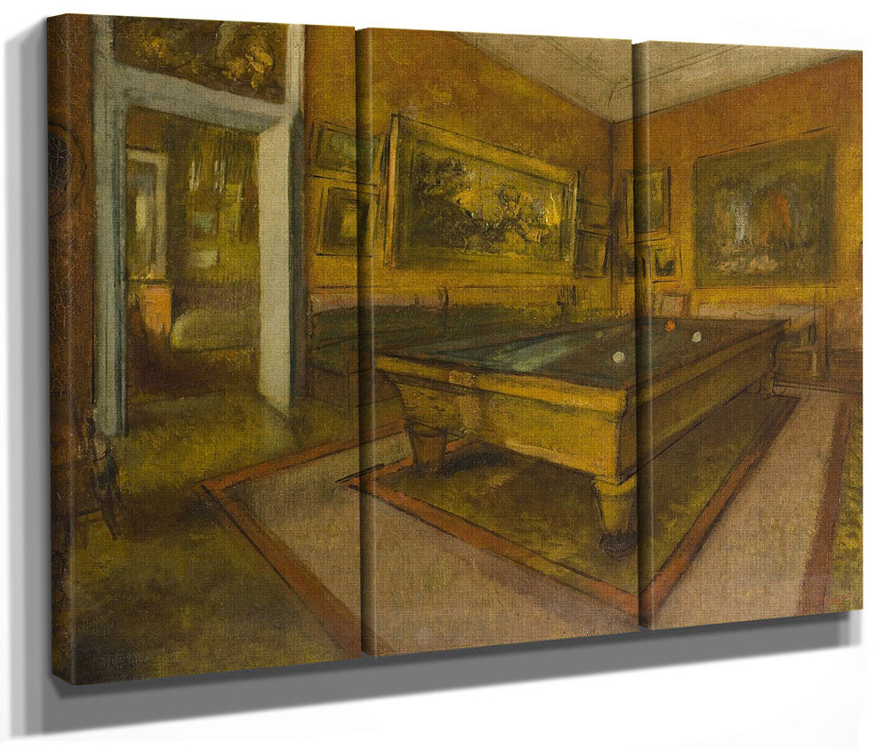Billiard Room At Menil Hubert By Edgar Degas