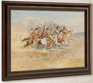 Blackfeet War Party By Charles Marion Russell
