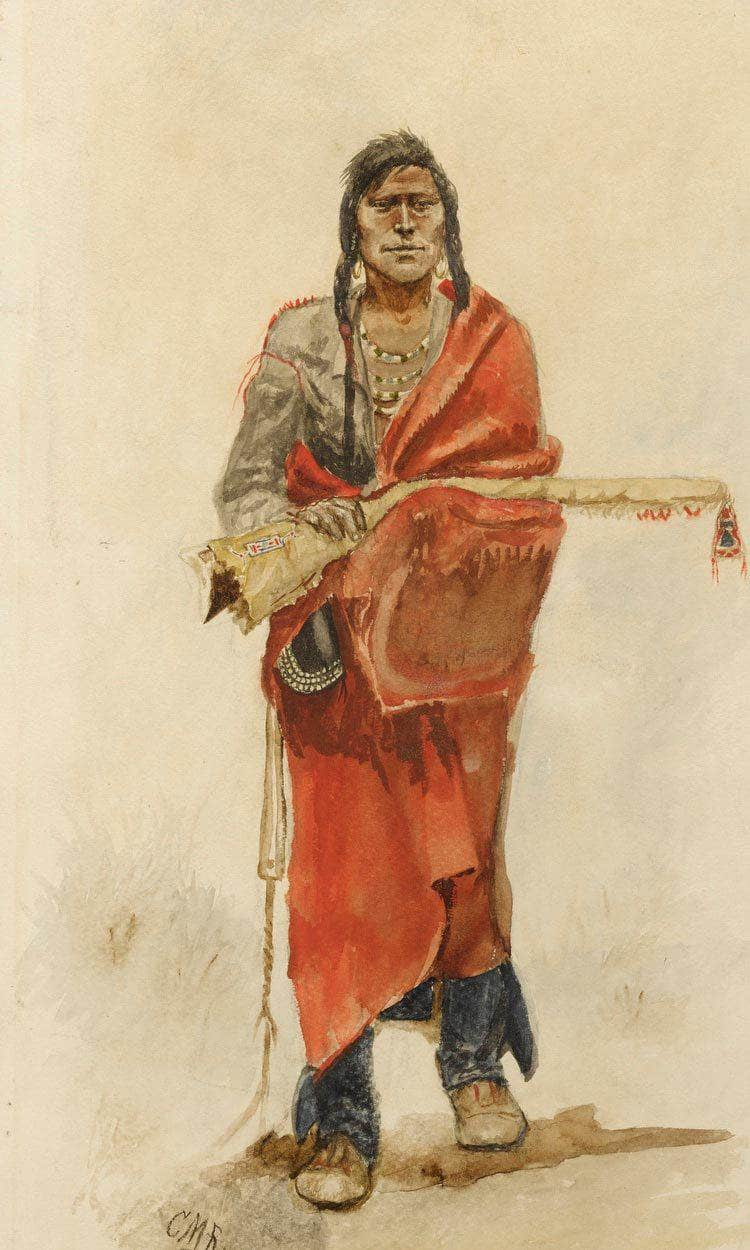 Blackfoot Indian By Charles Marion Russell