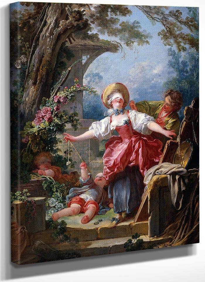Blind Mans Buff 1750 1752 116 8X91 4Cm Toledo Museum Of Art (1) By Jean Honore Fragonard