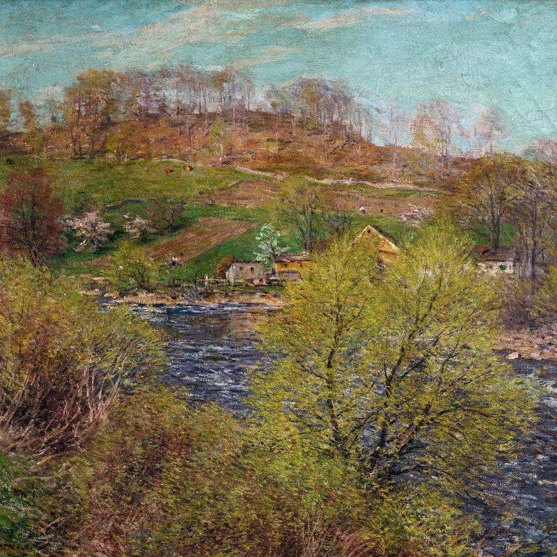 Blossoming Willows By Willard Leroy Metcalf