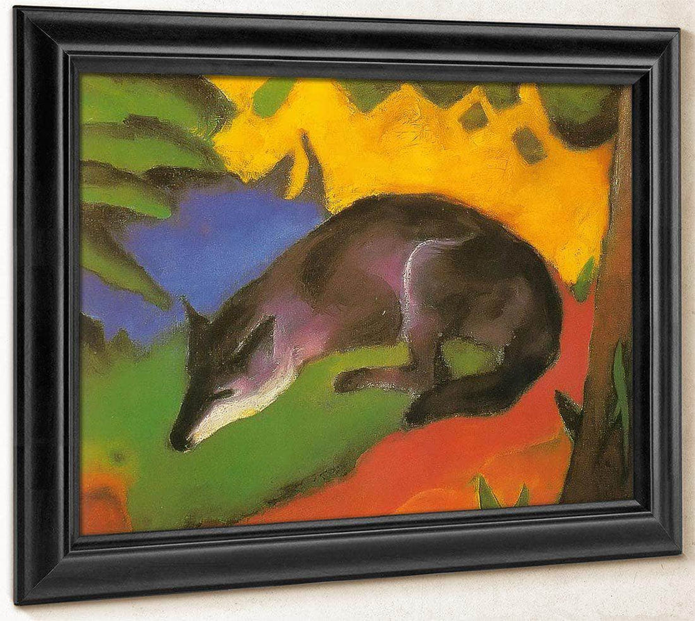 Blue Black Fox By Franz Marc Print Canvas Art Framed Print Truly Art