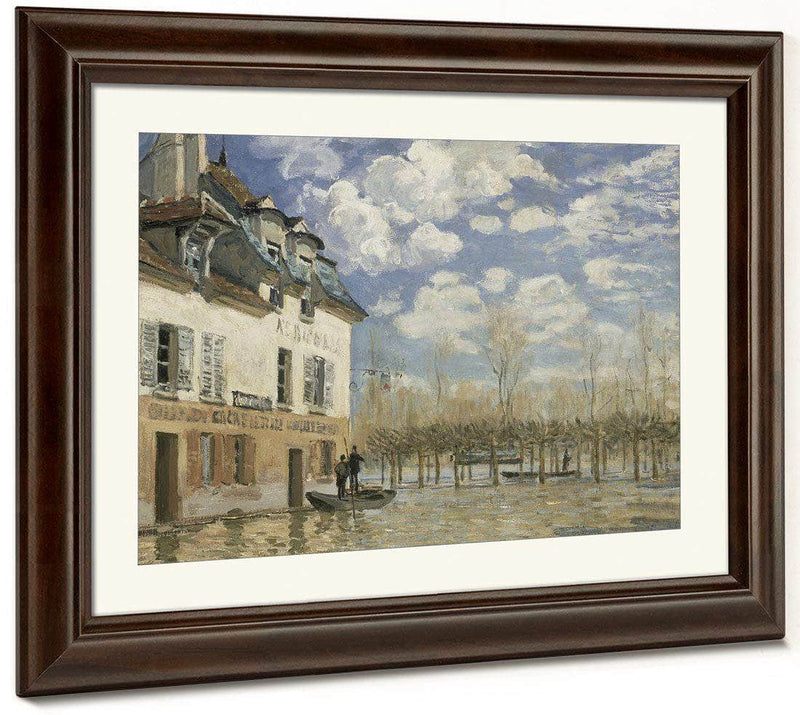 Boat In The Flood At Port Marly 1876 By Alfred Sisley