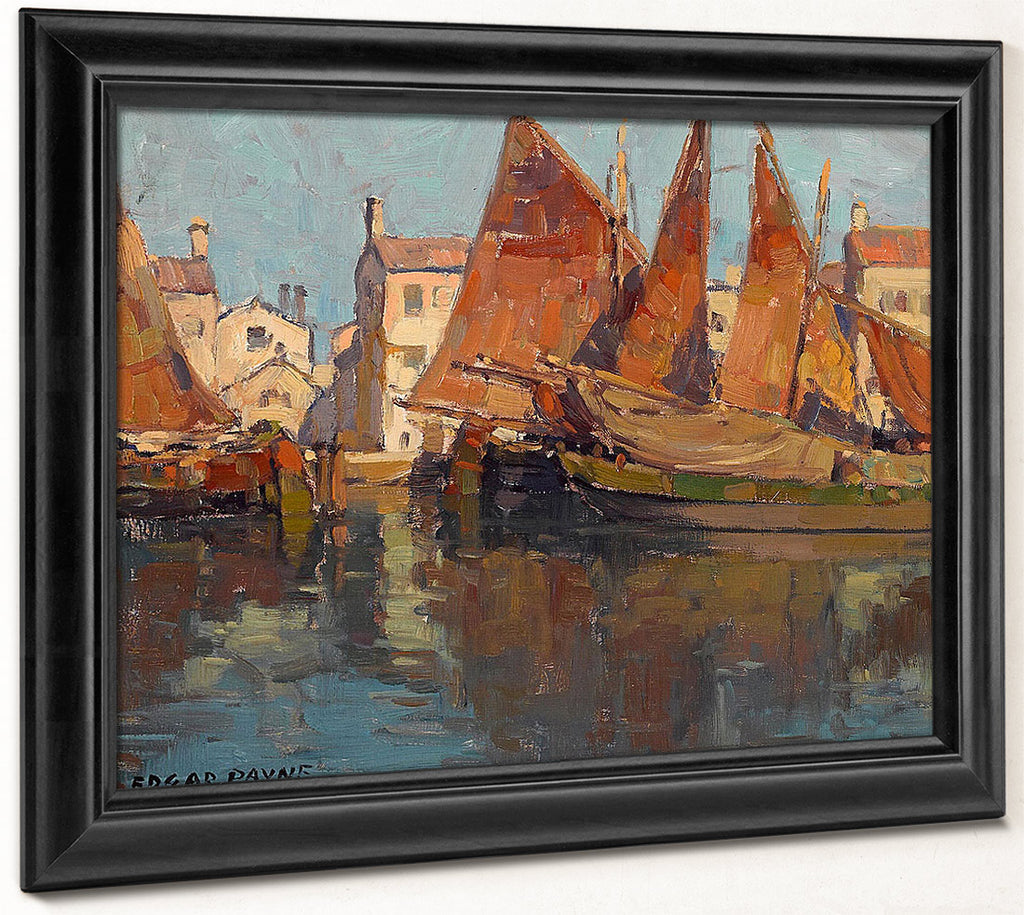 Boats At Chioggia By Edgar Payne