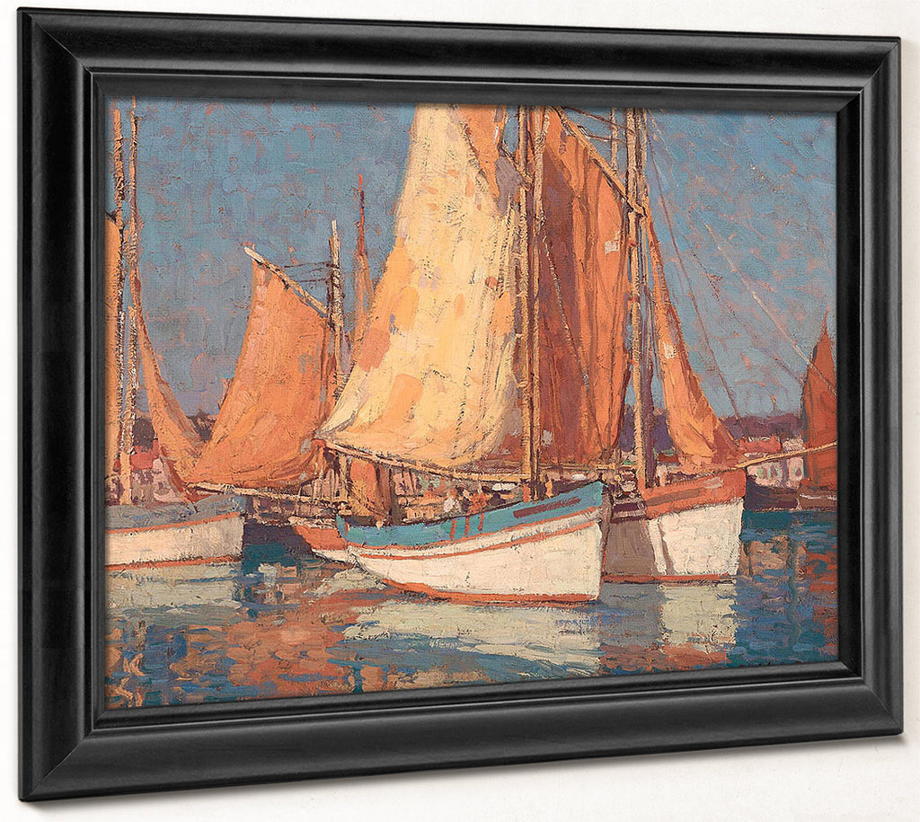 Boats Off Concarneau By Edgar Payne
