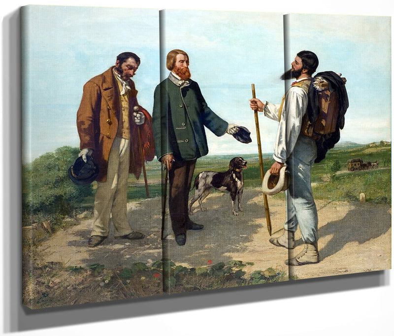 Bonjour Monsieur Courbet 1854 By Gustave Courbet
