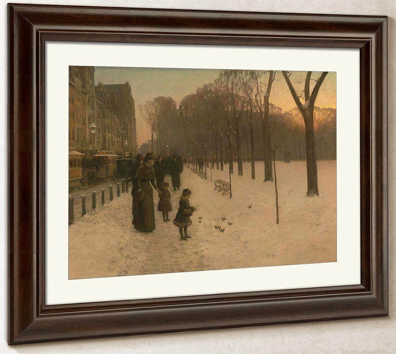 Boston Common At Twilight By Childe Hassam