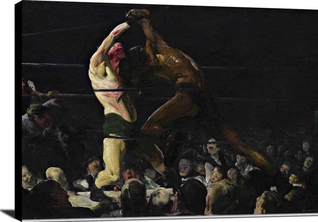 Both Members Of This Club Painting George Bellows Canvas Art