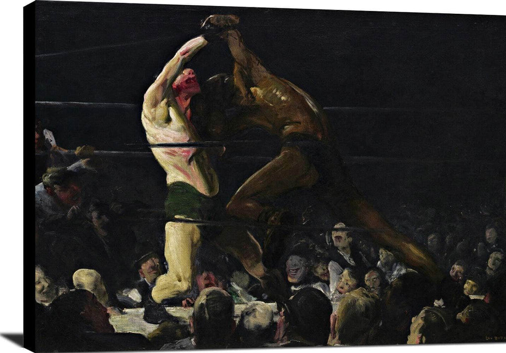 Both Members Of This Club Painting George Wesley Bellows Canvas Art