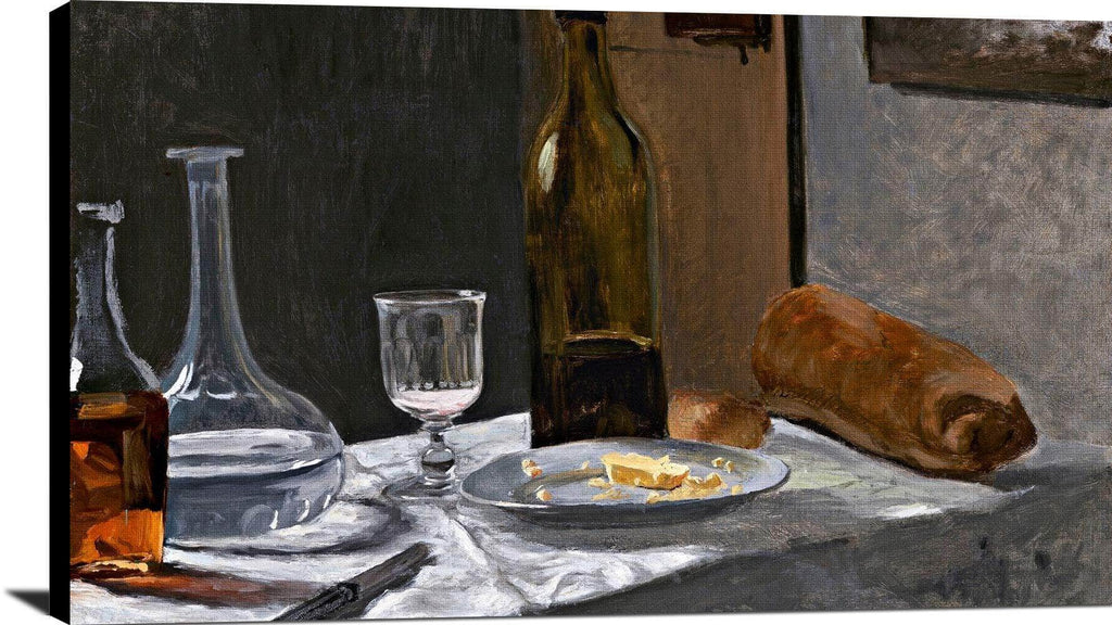 Bottle, Carafe, Bread, And Wine Painting Claude Monet Canvas Art