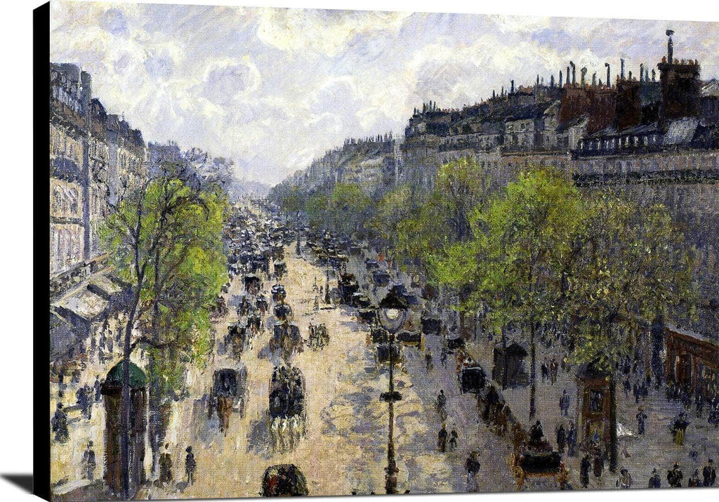 Boulevard Montmartre, Spring Painting Camille Pissarro Canvas Art