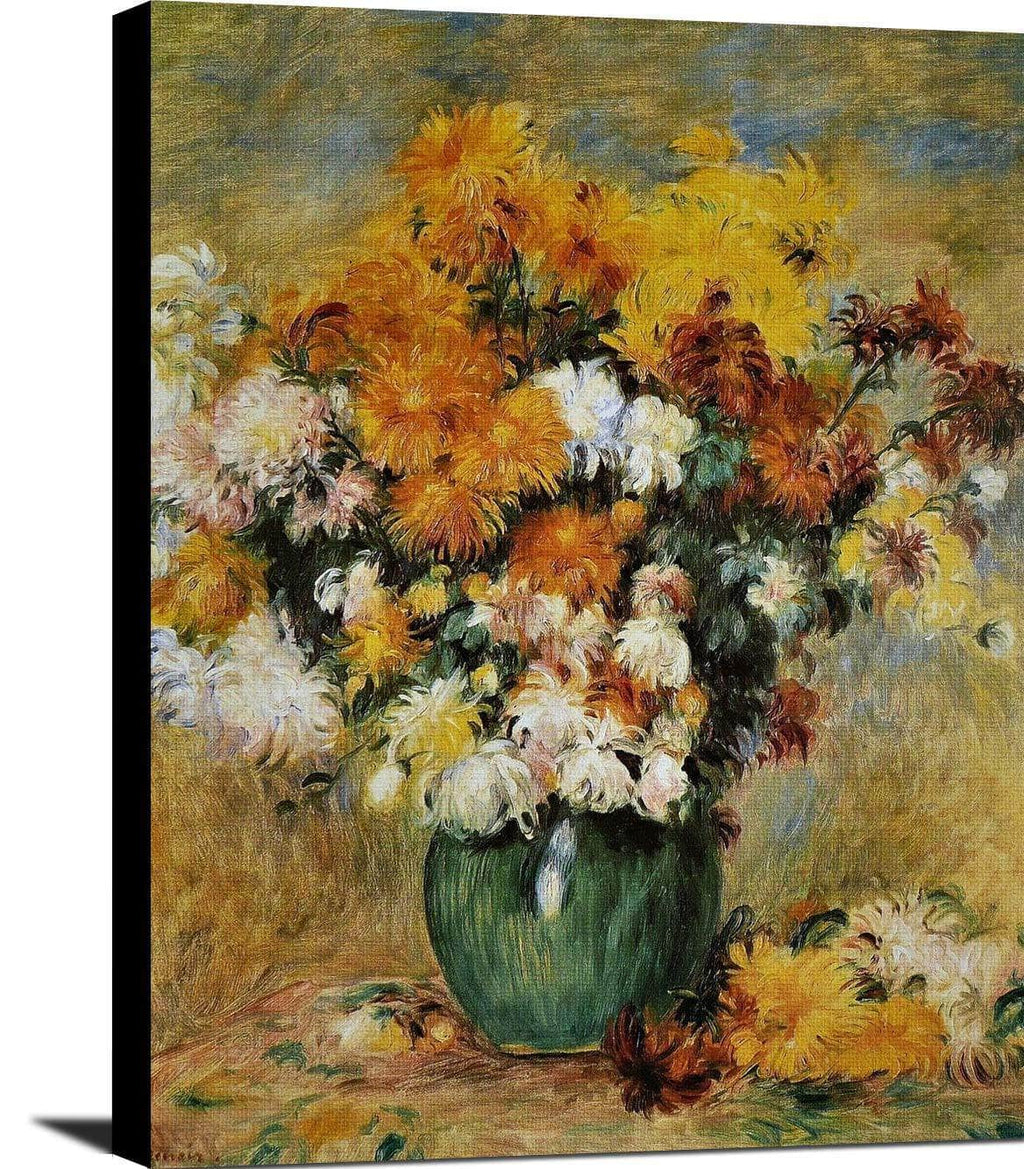 Bouquet Of Chrysanthemums Painting Auguste Renoir Canvas Art