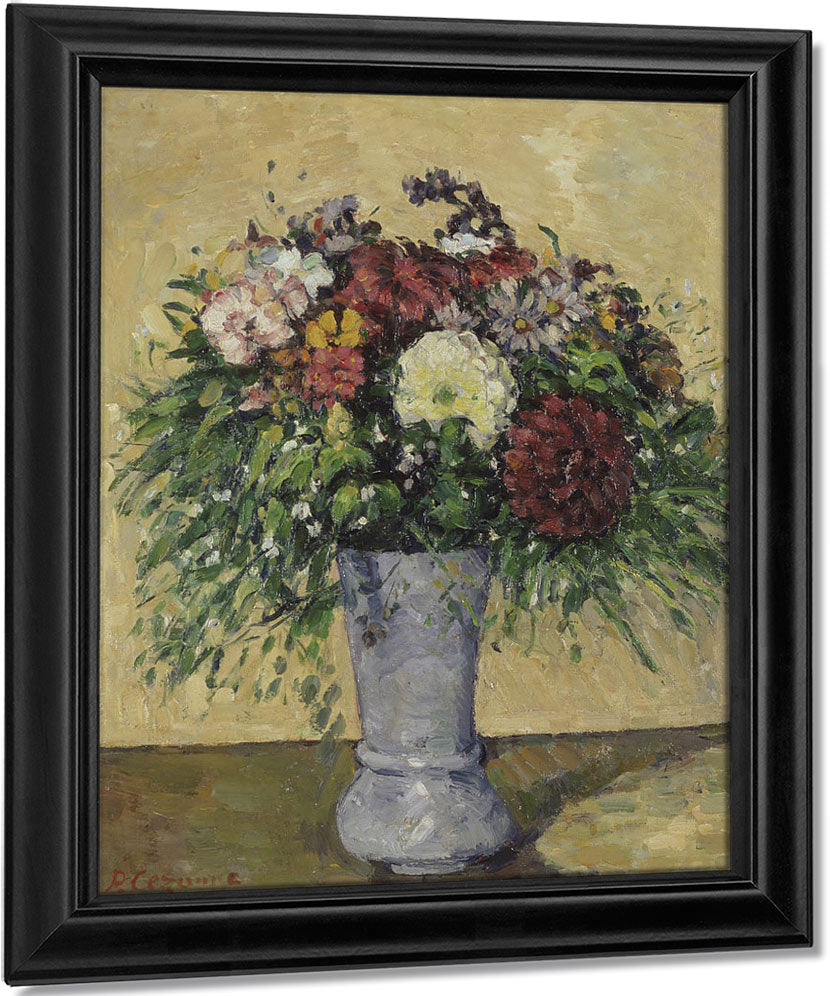 Bouquet Of Flowers In A Vase By Paul Cezanne