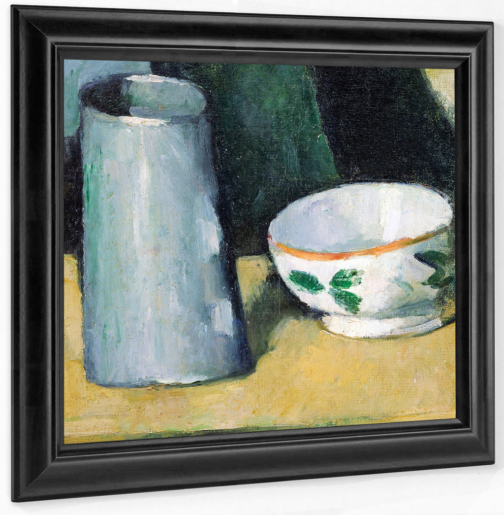 Bowl And Milk Jug By Paul Cezanne