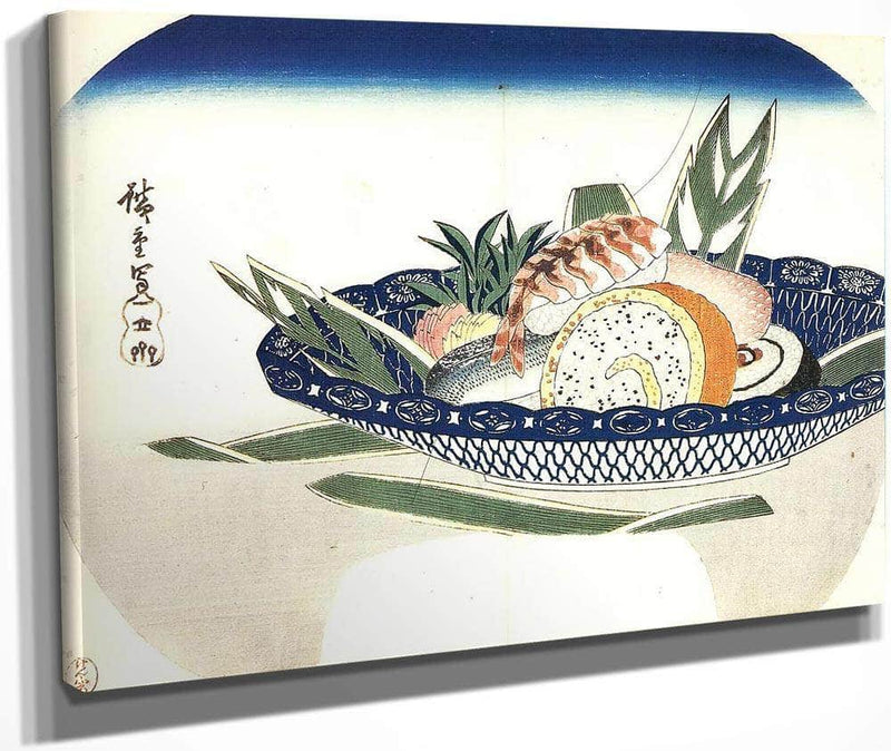 Bowl Of Sushi By Hiroshige