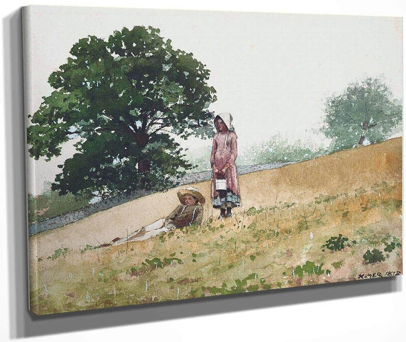 Boy And Girl On A Hillside 1878 By Winslow Homer