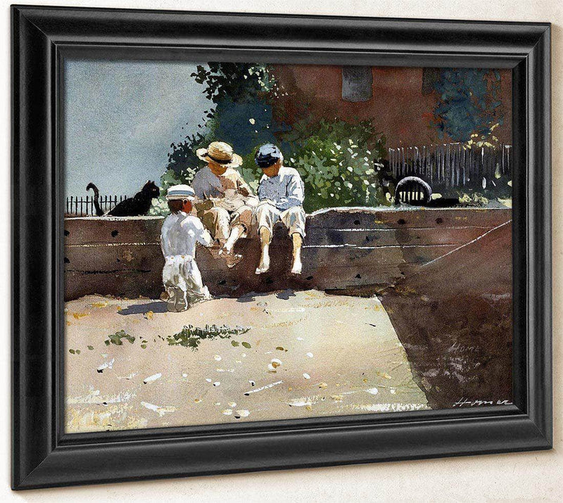 Boys And Kitten By Winslow Homer