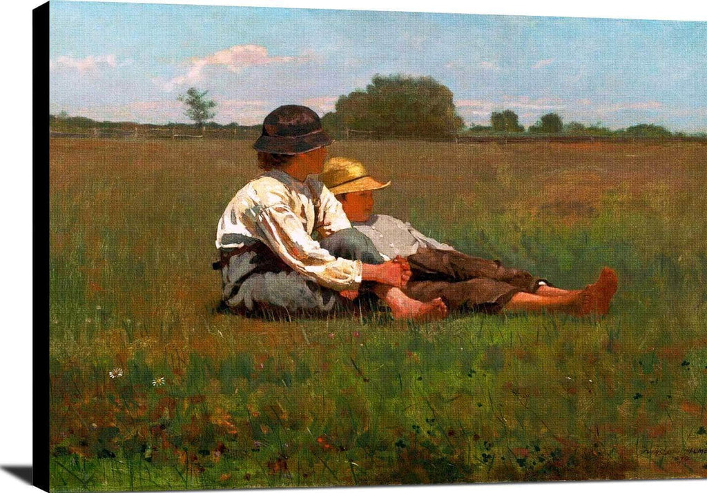 Boys In A Pasture Painting Winslow Homer Canvas Art