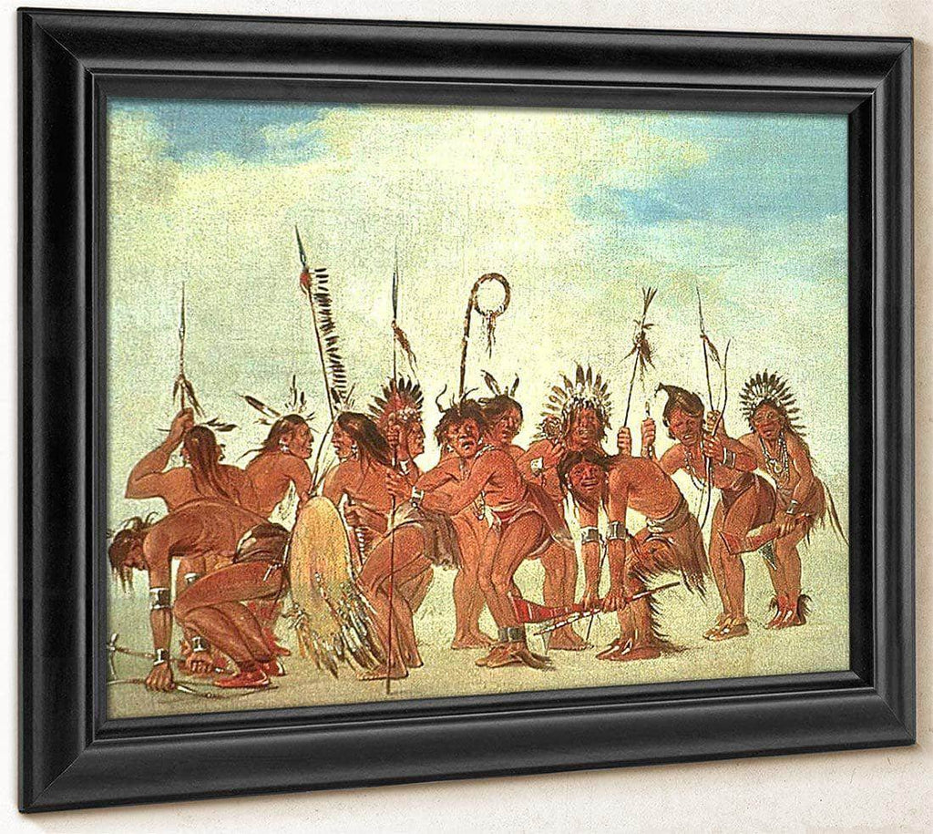 Braves' Dance At Fort Snelling By George Catlin