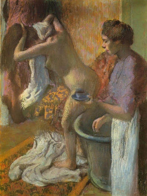 Breakfast After The Bath By Edgar Degas