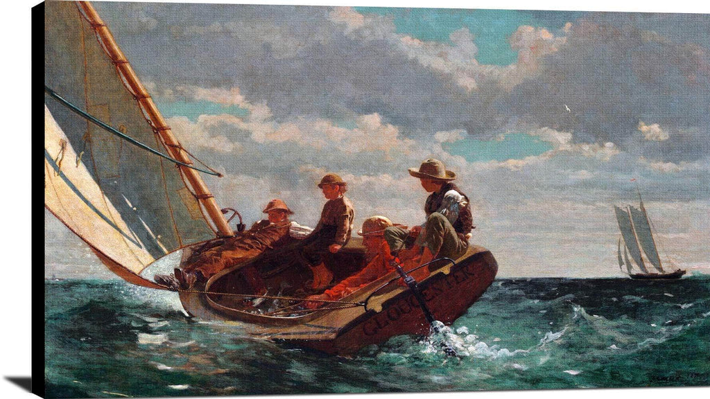 Breezing Up A Fair Wind Painting Winslow Homer Canvas Art