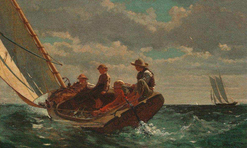 Breezing By Up By (A By Fair By Wind) By Winslow Homer