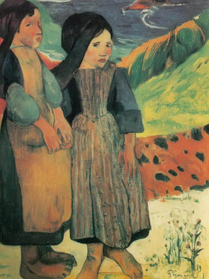 Breton Children On The Seaside By Paul Gauguin
