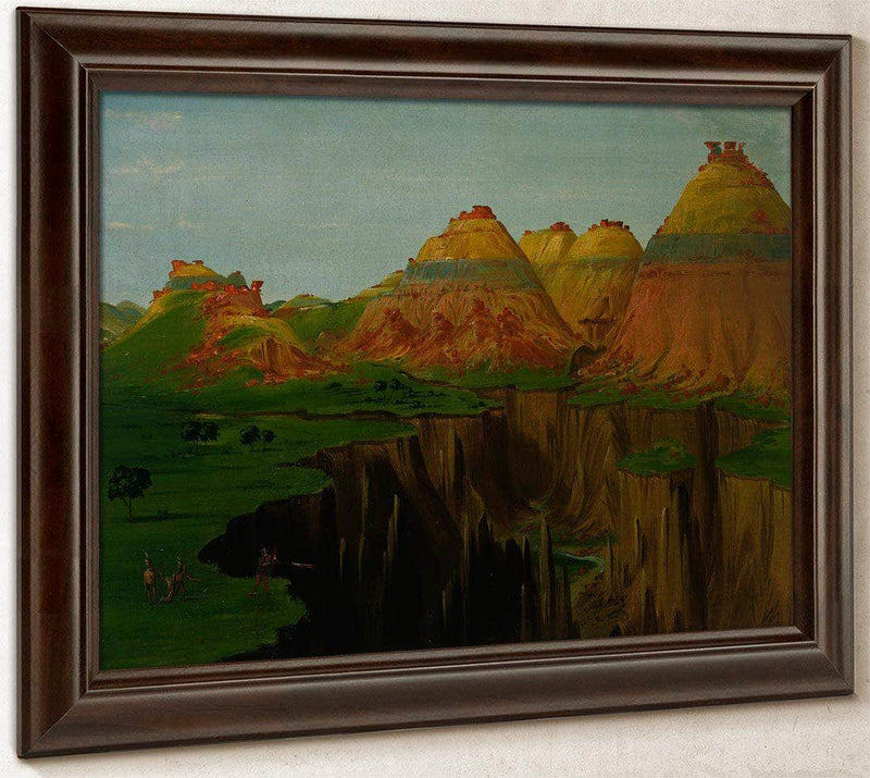 Brick Kilns, Clay Bluffs 1900 Miles Above St. Louis By George Catlin