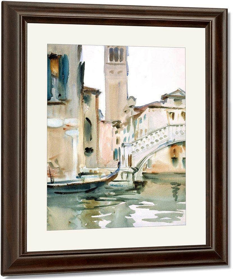 Bridge And Campanile, Venice By John Singer Sargent